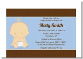 Baby Boy Caucasian - Baby Shower Petite Invitations