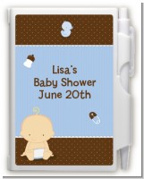 Baby Boy Caucasian - Baby Shower Personalized Notebook Favor