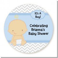 Baby Boy Caucasian - Personalized Baby Shower Table Confetti