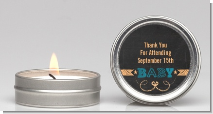 Baby Boy Chalk Inspired - Baby Shower Candle Favors