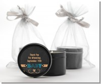 Baby Boy Chalk Inspired - Baby Shower Black Candle Tin Favors
