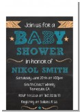 Baby Boy Chalk Inspired - Baby Shower Petite Invitations
