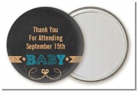 Baby Boy Chalk Inspired - Personalized Baby Shower Pocket Mirror Favors