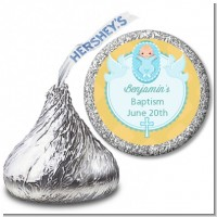 Baby Boy - Hershey Kiss Baptism / Christening Sticker Labels