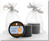 Baby Boy Hispanic - Baby Shower Black Candle Tin Favors