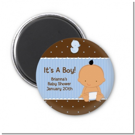 Baby Boy Hispanic - Personalized Baby Shower Magnet Favors