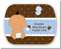 Baby Boy Hispanic - Personalized Baby Shower Rounded Corner Stickers