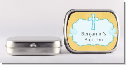 Baby Boy - Personalized Baptism / Christening Mint Tins