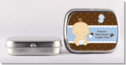 Baby Boy Caucasian - Personalized Baby Shower Mint Tins