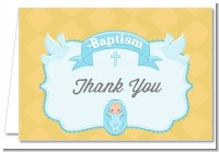 Baby Boy - Baptism / Christening Thank You Cards