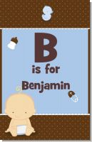 Baby Boy Caucasian - Personalized Baby Shower Nursery Wall Art