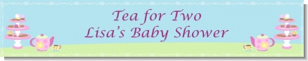 Baby Brewing Tea Party - Personalized Baby Shower Banners