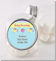 Baby Brewing Tea Party - Personalized Baby Shower Candy Jar