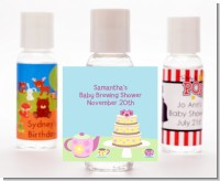 Baby Brewing Tea Party - Personalized Baby Shower Hand Sanitizers Favors