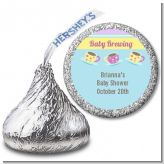 Baby Brewing Tea Party - Hershey Kiss Baby Shower Sticker Labels