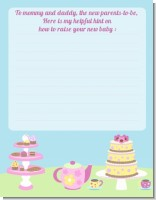 Baby Brewing Tea Party - Baby Shower Notes of Advice
