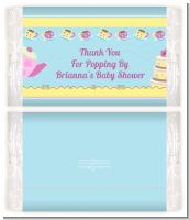 Baby Brewing Tea Party - Personalized Popcorn Wrapper Baby Shower Favors