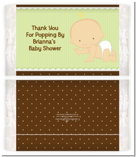 Baby Neutral Caucasian - Personalized Popcorn Wrapper Baby Shower Favors