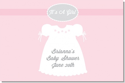 Sweet Little Lady - Personalized Baby Shower Placemats