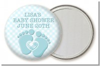 Baby Feet Baby Boy - Personalized Baby Shower Pocket Mirror Favors