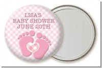 Baby Feet Baby Girl - Personalized Baby Shower Pocket Mirror Favors
