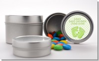 Baby Feet Baby Green - Custom Baby Shower Favor Tins