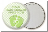 Baby Feet Baby Green - Personalized Baby Shower Pocket Mirror Favors