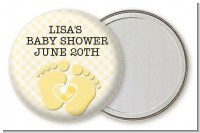 Baby Feet Neutral - Personalized Baby Shower Pocket Mirror Favors