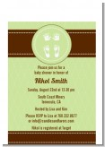 Baby Feet Pitter Patter Neutral - Baby Shower Petite Invitations
