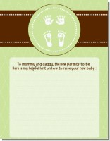 Baby Feet Pitter Patter Neutral - Baby Shower Notes of Advice
