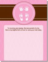 Baby Feet Pitter Patter Pink - Baby Shower Notes of Advice