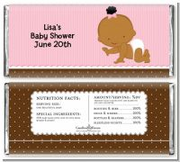 Baby Girl African American - Personalized Baby Shower Candy Bar Wrappe