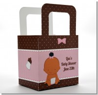 Baby Girl African American - Personalized Baby Shower Favor Boxes