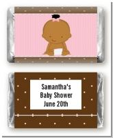 Baby Girl African American - Personalized Baby Shower Mini Candy Bar Wrappers