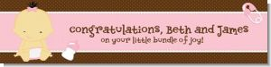 Baby Girl Asian - Personalized Baby Shower Banners