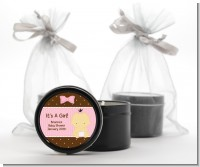 Baby Girl Asian - Baby Shower Black Candle Tin Favors