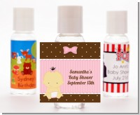 Baby Girl Asian - Personalized Baby Shower Hand Sanitizers Favors