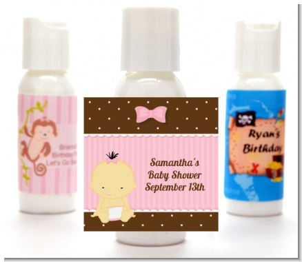 Baby Girl Asian - Personalized Baby Shower Lotion Favors