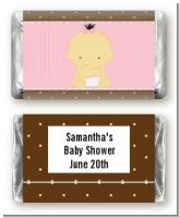 Baby Girl Asian - Personalized Baby Shower Mini Candy Bar Wrappers