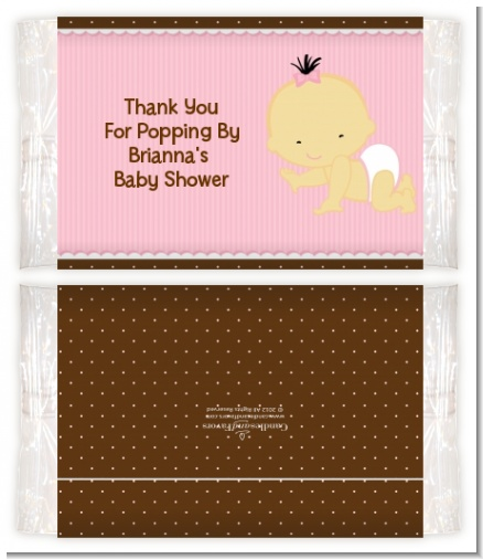 Baby Girl Asian - Personalized Popcorn Wrapper Baby Shower Favors
