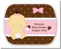 Baby Girl Asian - Personalized Baby Shower Rounded Corner Stickers