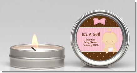 Baby Girl Caucasian - Baby Shower Candle Favors