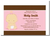 Baby Girl Caucasian - Baby Shower Petite Invitations