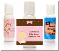 Baby Girl Caucasian - Personalized Baby Shower Lotion Favors