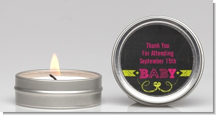 Baby Girl Chalk Inspired - Baby Shower Candle Favors