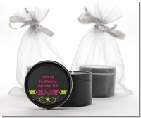 Baby Girl Chalk Inspired - Baby Shower Black Candle Tin Favors