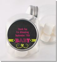 Baby Girl Chalk Inspired - Personalized Baby Shower Candy Jar