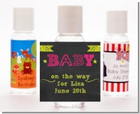 Baby Girl Chalk Inspired - Personalized Baby Shower Hand Sanitizers Favors