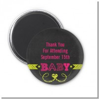 Baby Girl Chalk Inspired - Personalized Baby Shower Magnet Favors