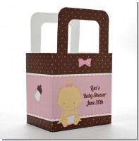 Baby Girl Caucasian - Personalized Baby Shower Favor Boxes